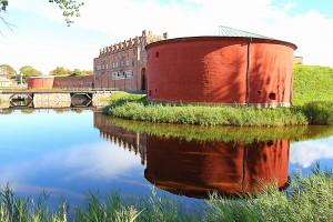 Malmöhus Slott. Sedd från Tekniska Museets håll.