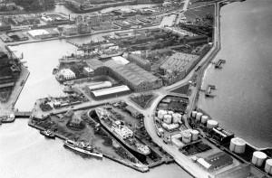 Kockums varv, Västra hamnområdet 1940-talet